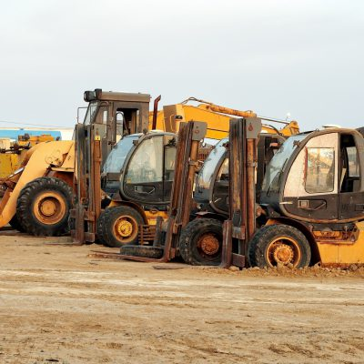 Heavy duty construction earth moving glass