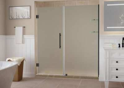 Frosted-shower-doors