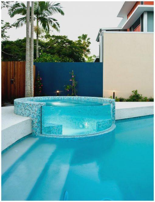 Glass wall Pool Design
